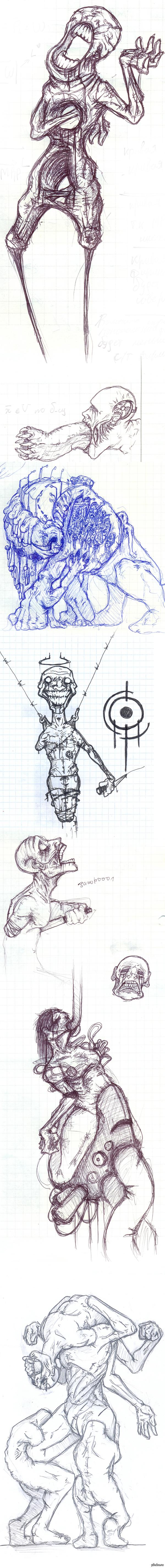 Всё те же образы из моей головы (длиннопост) Последний - единственный, нарисованный не в тетради и карандашом. Наслаждайтесь, подписчики