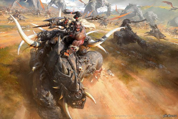 За Орду!!! Источник и процесс создания: http://www.gameartisans.org/challenges/finals_fest-challenges_2_leewiart_2d-char_7191_never-be-slaves_41078_wangxiaoyu12_23.php