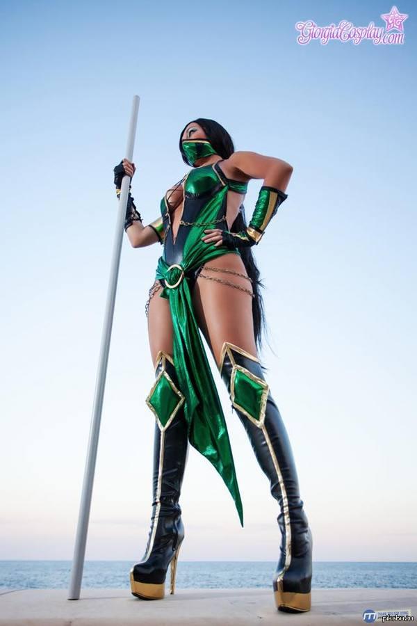 Косплей Jade из Mortal Kombat