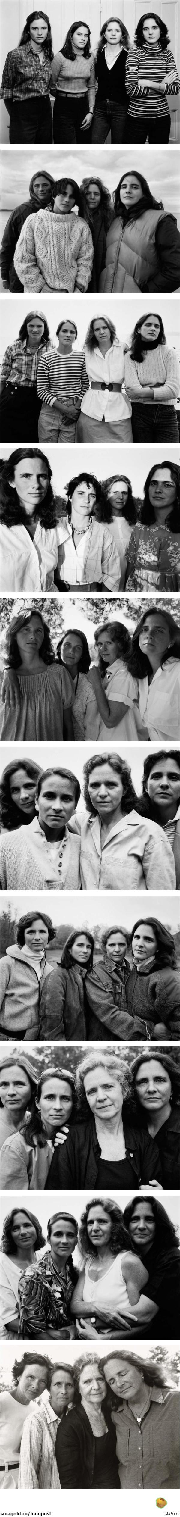 Фотографии 4 сестер сквозь года от Николаса Никсона Нашел на просторах
