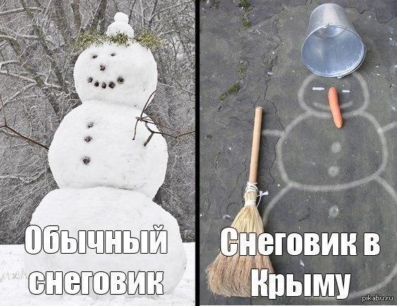 отличается картинка прикол снеговик из грязи всем этом знает