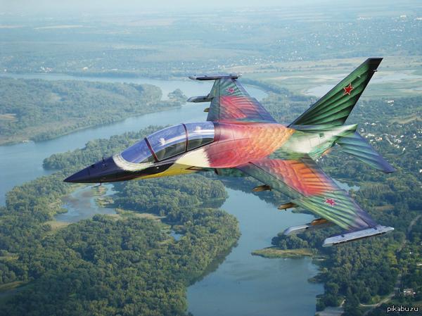 "Як-130 ""Щурка"" Очень красивый самолёт. Раскраска под щурку-пчелоеда."