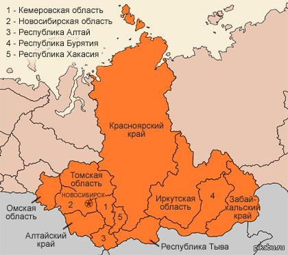Картосхема сибирского федерального округа фото 521
