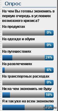 Занимательный опрос Наткнулся на одном сайте подмосковного города.