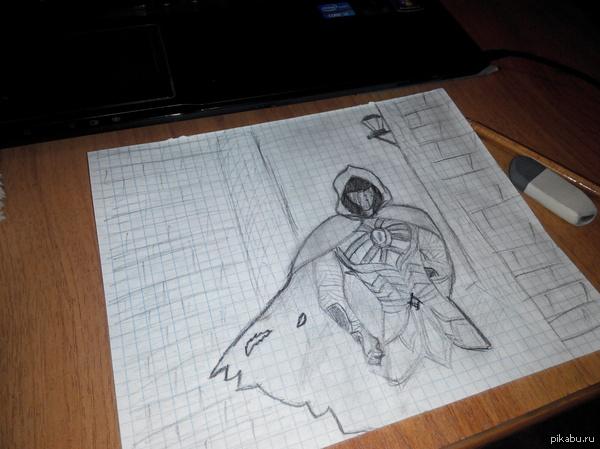 Проба карандаша Вздумалось попробовать себя в рисовании. Начальная версия, найденная на ноуте, не моя. Когда-то нашел в группе в ВК TES. Я немного преобразил на свой вкус.