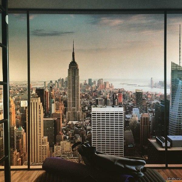 фото нью йорка из окна Концептуальная