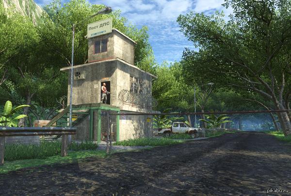 Пост ДПС прямиком из Far Cry 3 P.S. Ваас после всех событий, в гаишники пошел, привет передает)