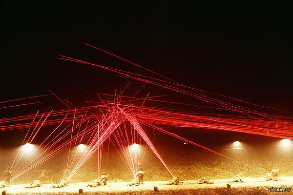 Стрельба трассирующими боеприпасами ночью