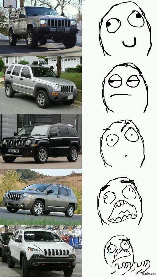 Эволюция Jeep'ов Главного дизайнера явно китаец покусал..
