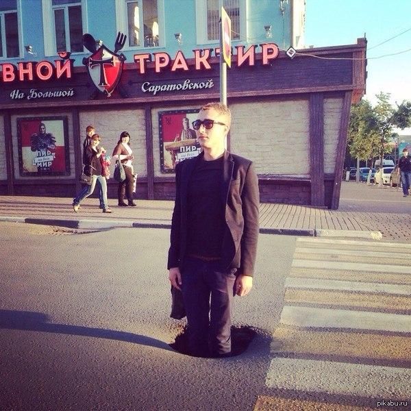 """Застрял в текстурах, Небольшие неровности на дорогах Ульяновска ,или ноу-хау в сфере ограничения скорости движения  : """"стоячий """" полицейск"""