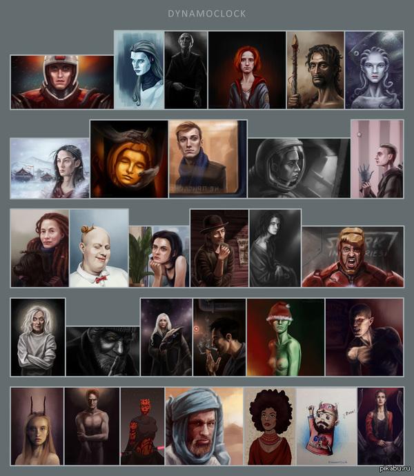 """Челлендж """"30 портретов"""" В одном из  пабликов для художников вконтакте часто проводятся челленджи. Я решила попробовать силы в портретном соревновании. В Лигу художников возьмете?"""
