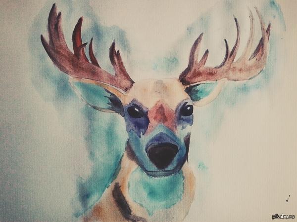 Рисунок Моя попытка рисовать акварелью