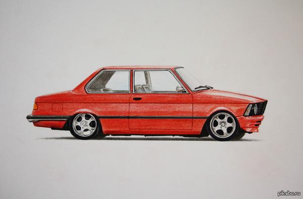 Нарисовал BMW e21 так я провожу свободное время