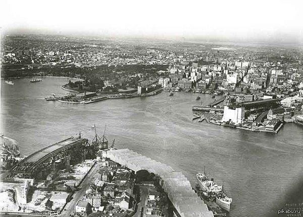 Фото Сиднея 1924г До строительства театра и постройки моста