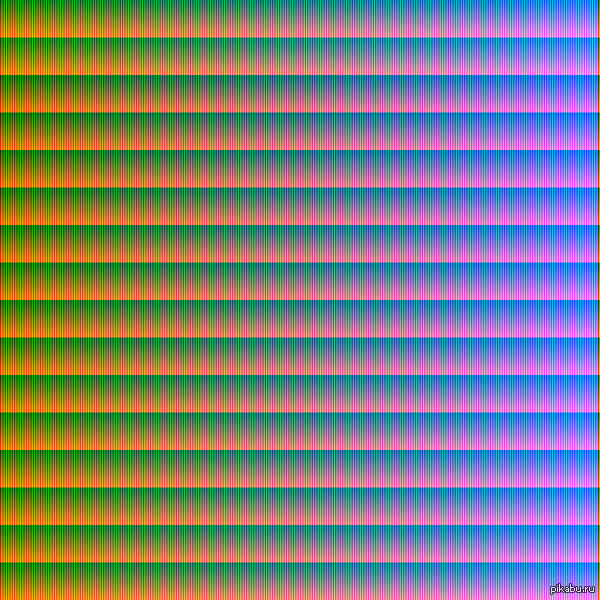 "Все цвета RGB, нарисованные с помощи SFML ответ на : <a href=""http://pikabu.ru/story/vse_tsveta_rgb_vyivedennyie_moim_algoritmom_kazhdyiy_piksel_unikalen_16777216_tsvetov_3107859#comment_42232944"">#comment_42232944</a>"