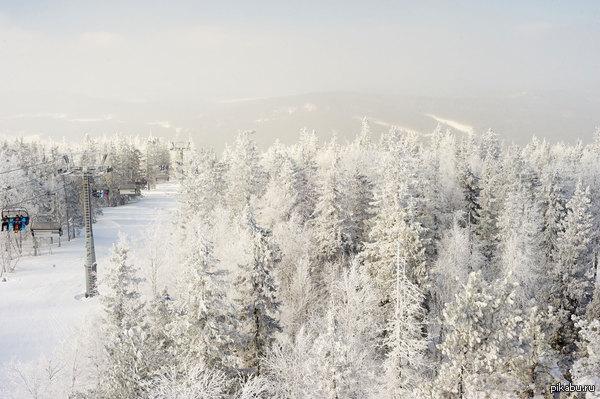 гора Белая,  Свердловская область Замечательный вид открывается с вершины!