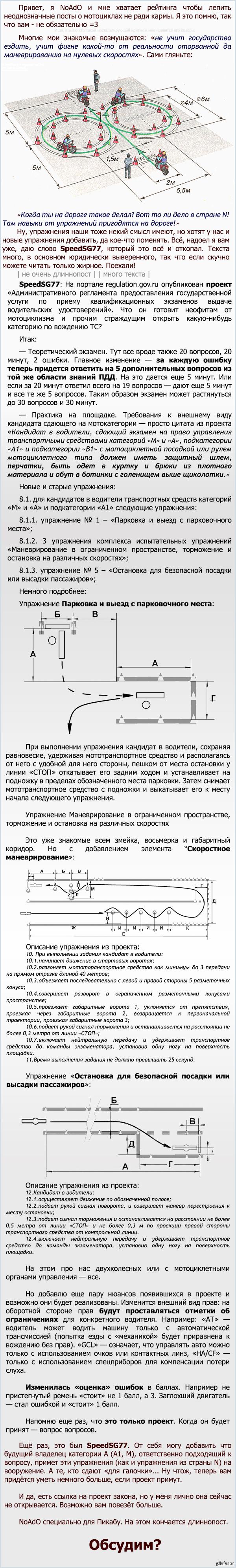 """Как будут принимать экзамены на """"А""""/""""А1"""" в РФ проект постановления"""