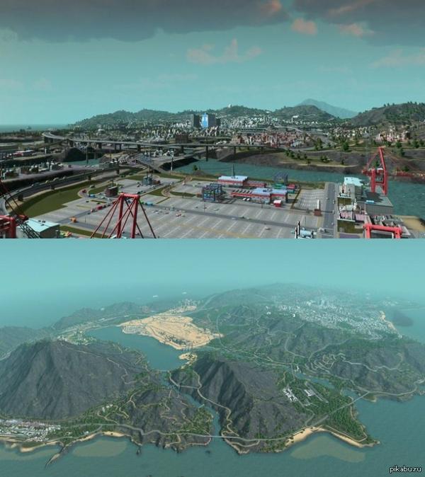 Энтузиаст воссоздал Лос-Сантос из GTA V в игре Cities: Skylines Пробник GTA 5 на PC