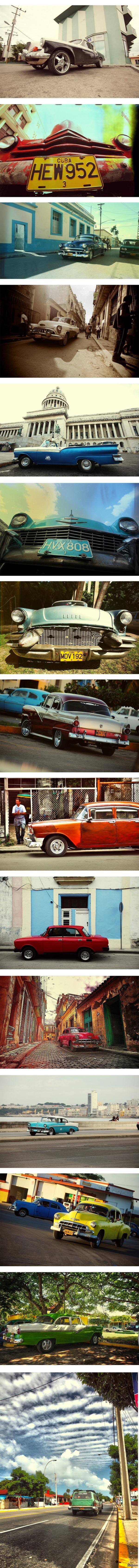 Автомобили Кубы Как известно, Куба-очень атмосферное место. Словно застывшие 60-е.  В свое время нафоткал много красивых машин. Климат позволяет им не гнить очень долго.