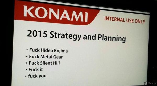 Опубликован план Konami на этот год