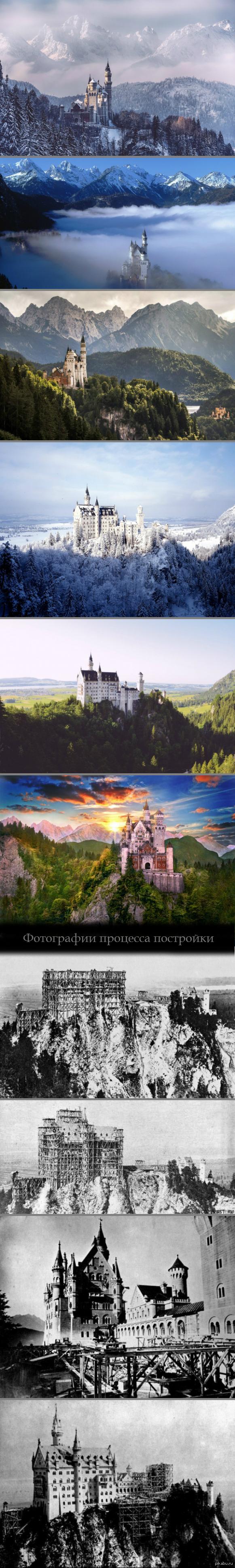Замок Нойшванштайн, Германия. Замок расположен на юге Баварии около города Фюссен, в паре сотен км от Австрии.