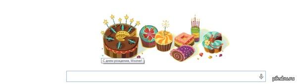 Когда гугл поздравляет тебя! Настроение не очень, а здесь хитрый гугл наверное вытянул инфу из Gmail и поздравил...неожиданно, но тепло на душе, пусть даже и от железяки ^_^