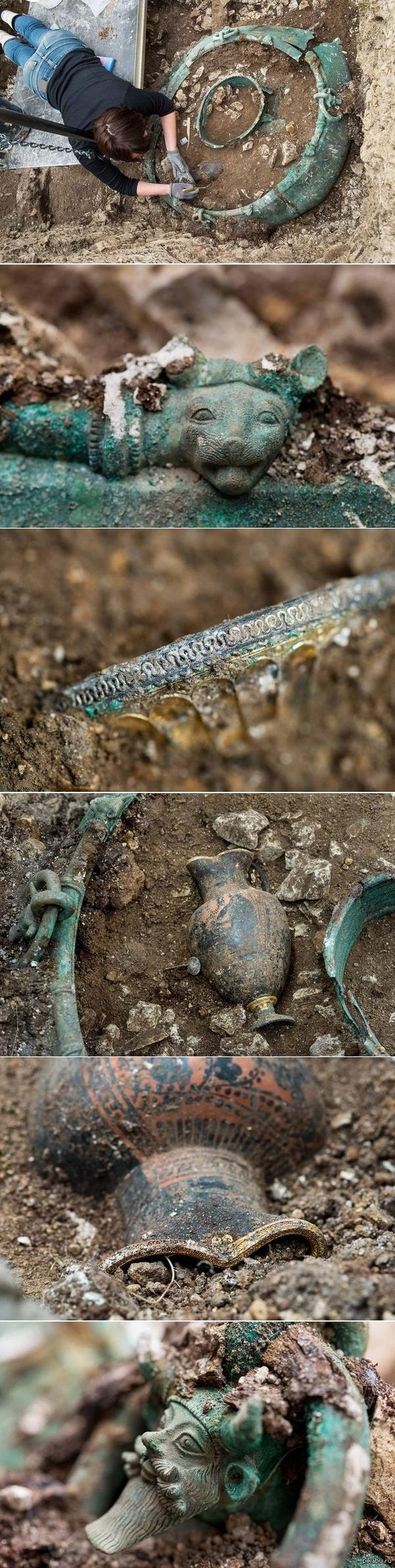 Во Франции нашли древний Кельтский клад.