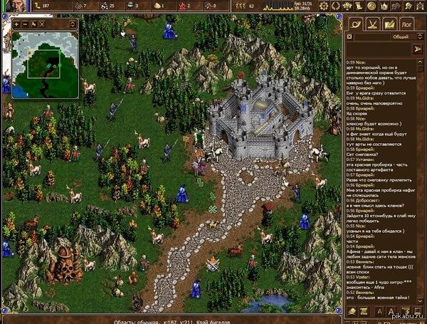 Незаслуженно обойденная вниманием онлайн игра по Heroes of might and magic III. Лига геймеров давайте устроим в ней революцию Пикабу. Автор видимо хороший программист, но никакой коммерсант (онлайн всего 120 человек). Помогите поднять в горячее, 3 коммента для минусов и описание внутри.
