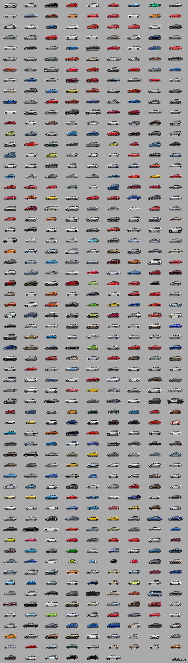 АвтоФотоАзбука - от Acura до УАЗ Собрал на досуге. По-алфавиту) Кликабельно (1920х6758)