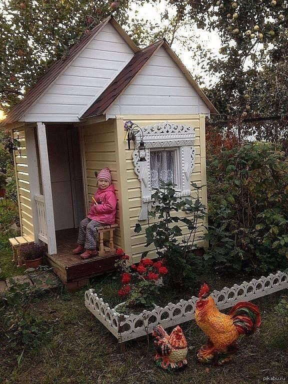 """""""Дочка долго просила свой дачный домик для игр..."""" пришлось вызывать дедушку и вот что получилось)"""