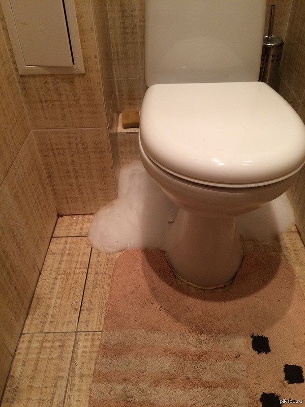 Ночной неждан 3:00 ночи. слышу очень странный звук со стороны туалета, я решил, всё же, взглянуть. Оказывается туалет решил помыться