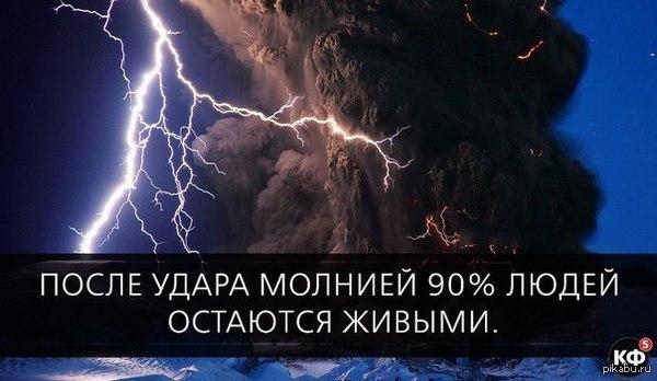 В остальных случаях молния бьёт в людей