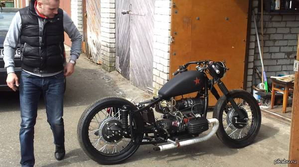 Мотоцикл днепр 11 переделанные в чоппер #4