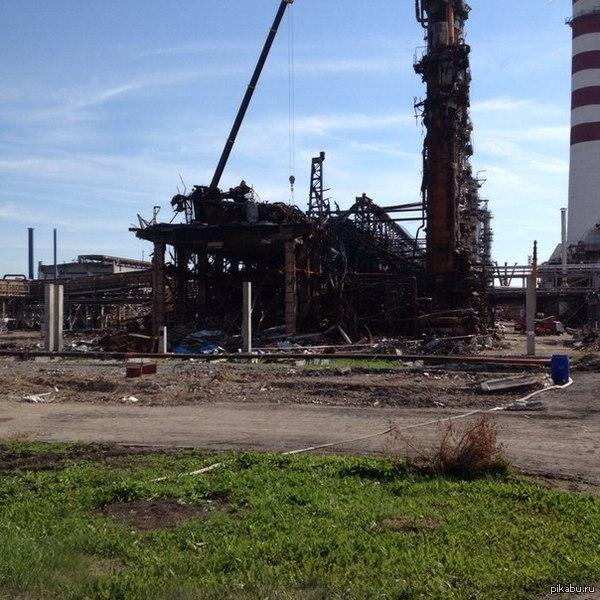 Последствия взрыва 500м3 водорода!АНПЗ Красноярский край. Был на заводе непосредственно в момент взрыва.Очень страшно было.