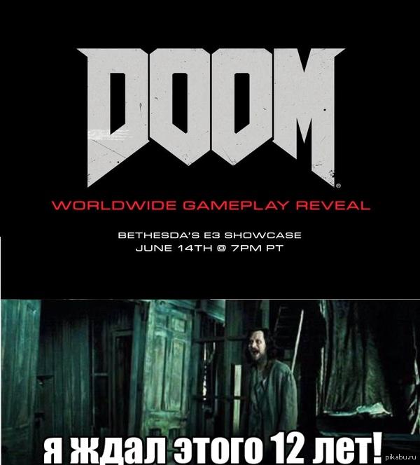 """Объявили дату презентации нового DOOM """"Полноценная презентация игры состоится в ходе запланированной на 14 июня пресс-конференции, которую компания проведёт в рамках предстоящей игровой выставки E3"""