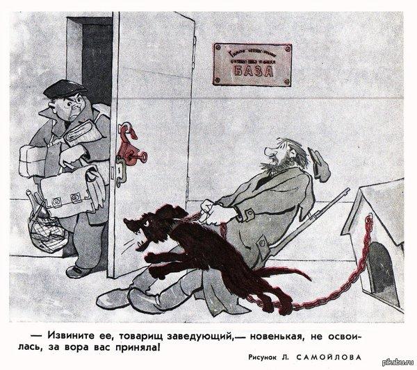"""Годная карикатура из журнала """"Крокодил"""""""