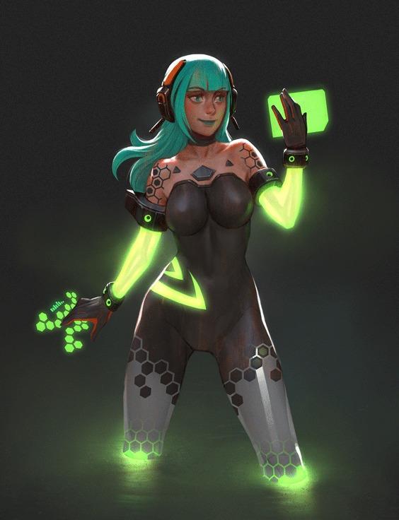 девушка Nvidia остальные гифки в комментах (ATI, Ps4, WiiU, Xbox One)