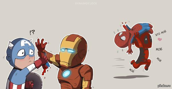 """Всем нужен Спайди Фанатский постер грядущего """"Раскола мстителей"""" (Captain America: Civil War) вдохновил. Сам постер в комментариях."""