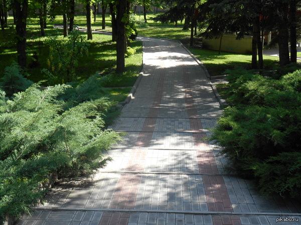 Зелёный парк города Ессуртуки - один из самых лучших в России.  Эти зеленые парки города впечатляют. Здесь хочется находиться вечно и особенно теплым воспоминанием до сих пор остаются утренние прогулки по парку, после завтрака в отеле.