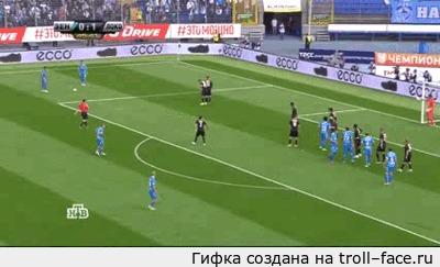 Лучший розыгрыш штрафного в истории футбола Зенит-Локомотив