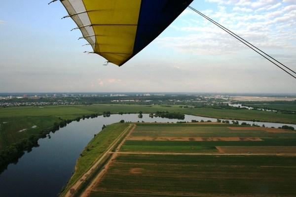 Полеты над поймой Москва-реки фотография, высота, москва-река, дельталет, длиннопост, ПараПлан