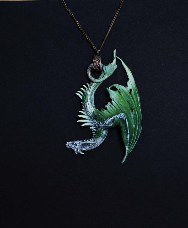 Мои любимцы, сотворенные из куска глины дракон, полимерная глина, моё, кулон, миниатюрная скульптура, длиннопост