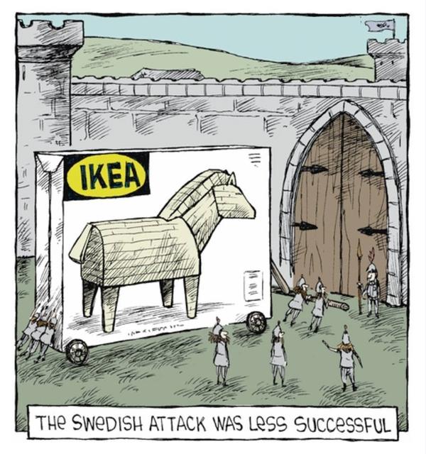 Шведская атака была менее успешной....