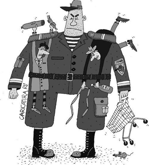 Под подозрением - каждый. финляндия, охранник, магазин, супермаркет, тележка, камера хранения, карикатура