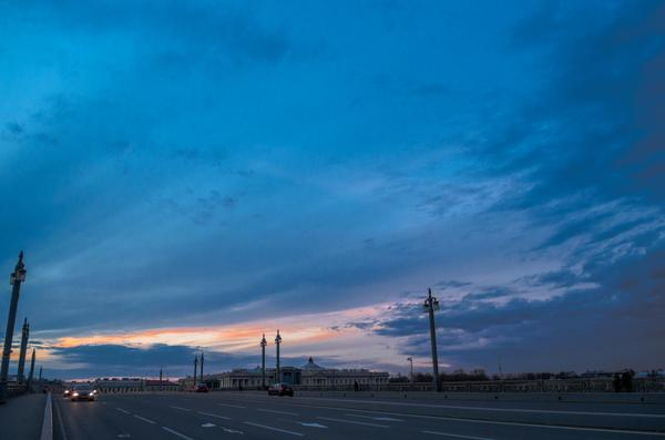 Петербургское небо Санкт-Петербург, закат, Небо, набережная, фотография