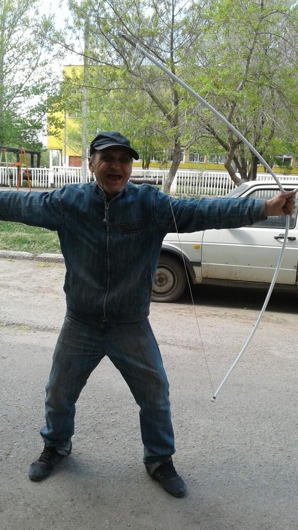 Лучник с нашего двора лук, стрелок, Хоба, юмор, длиннопост