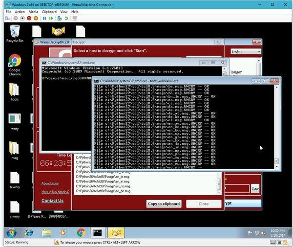 1495268465193417193 - Дешифровщик (WannaCry, Wana Decrypt0r, WCry, WannaCrypt0r и WannaCrypt)