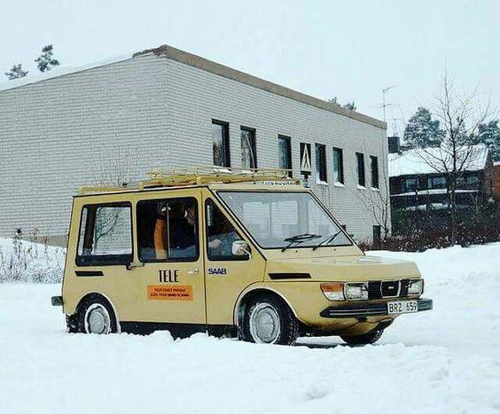 1976 год. Saab - почтовый электромобиль Электромобиль, Saab, Авто, Фотография, Интересное, Техника