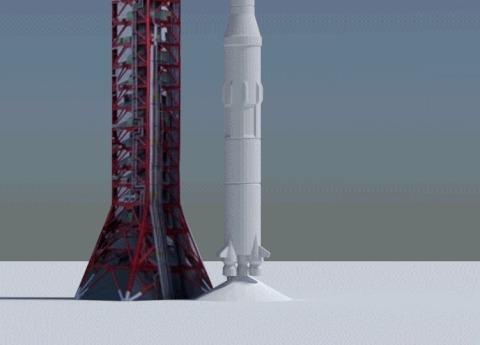 Вдогонку к посту Гифка, Космос, Наслонили тут, Ракета, Слоны, Saturn V
