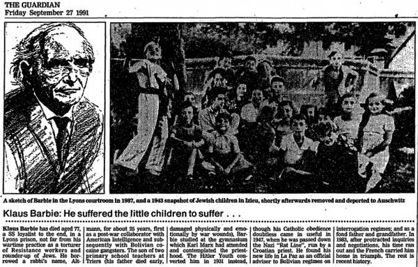 Клаус Барби - нацистский ублюдок, которого берегли американские спецслужбы сша, спецслужбы, преступник, нацисты, политика